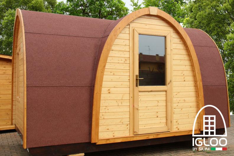 Silini case mobili igloo in legno e tende per glamping for Casa mobile in legno