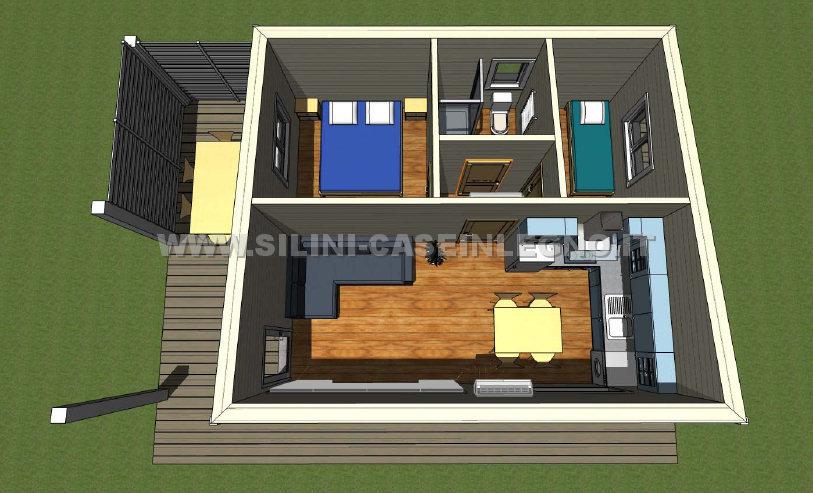 Silini produzione bungalow e case in legno per vacanza for Progetto casa 40 mq