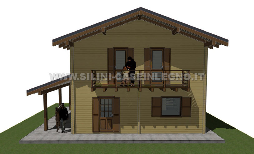 Progettazione Casa In Legno : Silini case in legno abitative residenziali e chalet personalizzati