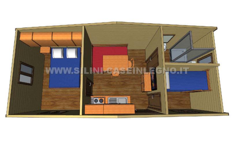 Silini case mobili in legno prefabbricate per campeggi e villaggi
