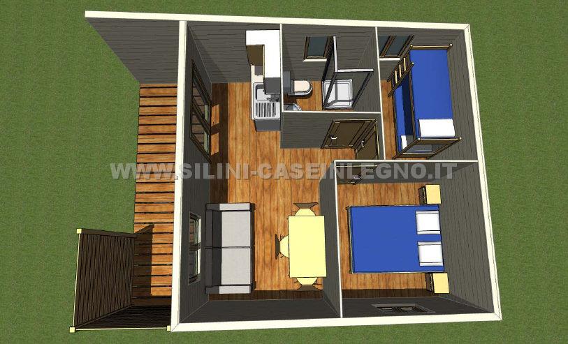 Silini case mobili su ruote per campeggio o villaggio for Casa mobile in legno