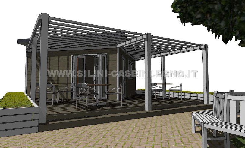 Silini prefabbricati in legno su misura casette e for Progetto casa in legno dwg