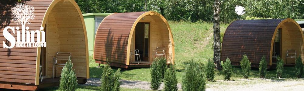 Bungalow prefabbricati per campeggi terminali antivento - Case in legno mobili ...